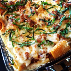 Baked Rigatoni with Italian Sausage